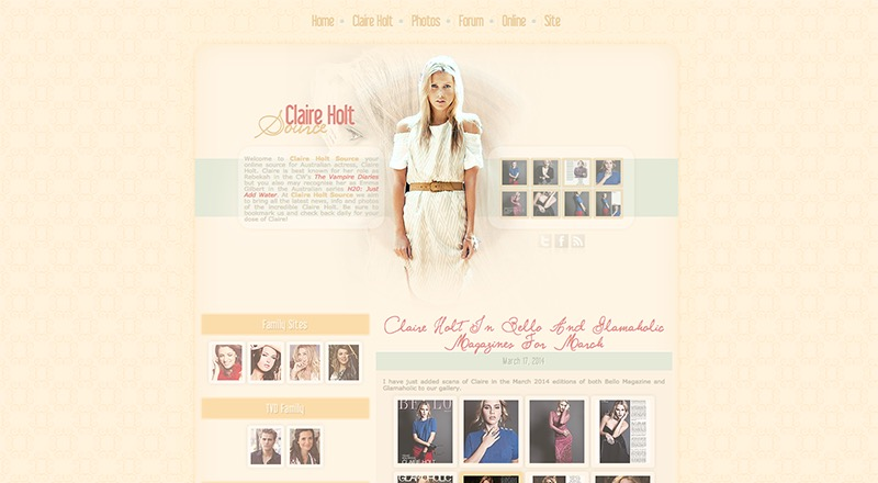 Claire Holt Source | Claire-Hold.net