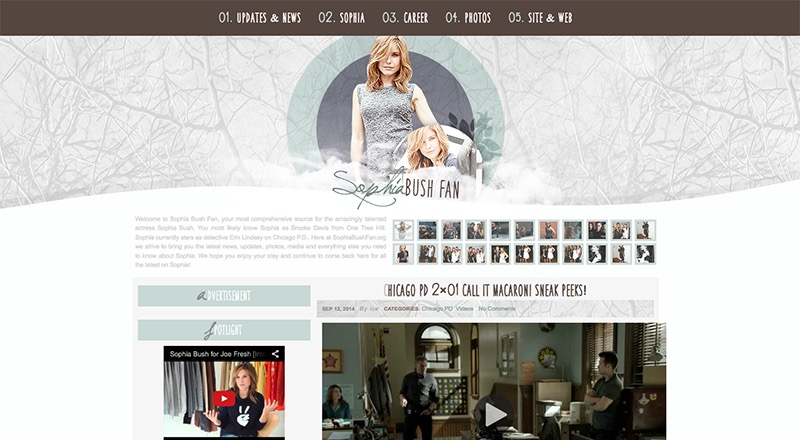 Sophia Bush Fan | SophiaBushFan.org